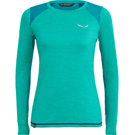 Salewa Pedroc Hybrid Dry - T-shirt manches longues Femme - turquoise